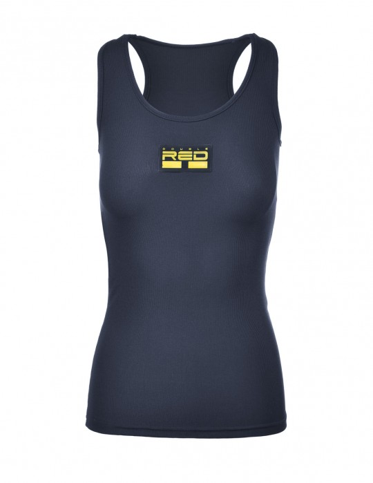 Tank Sportisyourgang Dark Blue 3d Neon Logo Yellow