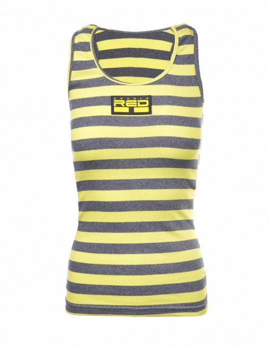 Tank Sportisyourgang YellowGrey 3d Neon Logo Yellow