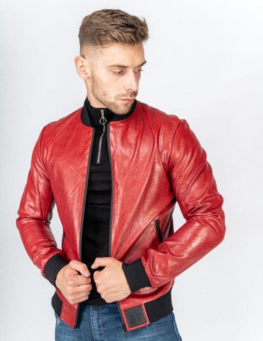 SOPRANO Leather Jacket Bordeaux