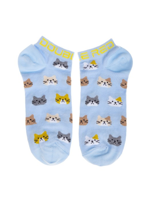 DOUBLE FUN Socks Unhappy Cats