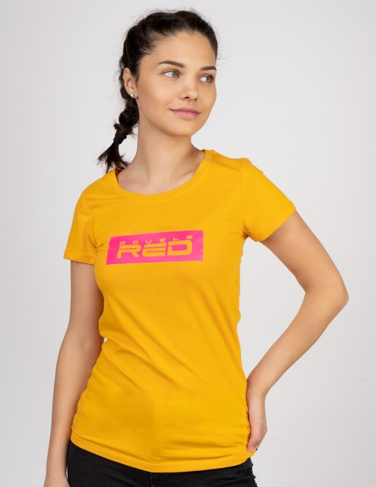 Women's T-Shirt NEON STREETS Collection Pink/Yellow