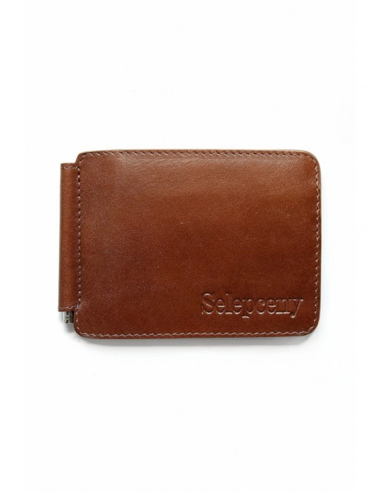 SELEPCENY BROWN 100% GENUINE LEATHER BILLFOLD WALLET