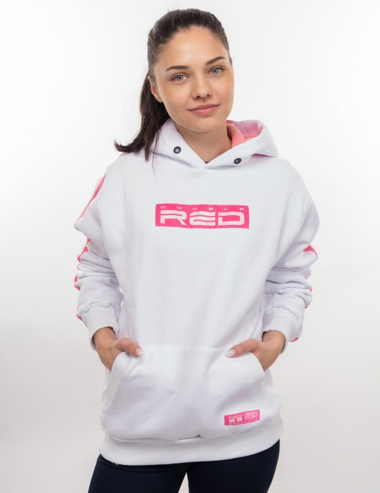 OUTSTANDING FCK COVID LIMITED EDITION Hoodie White/Pink