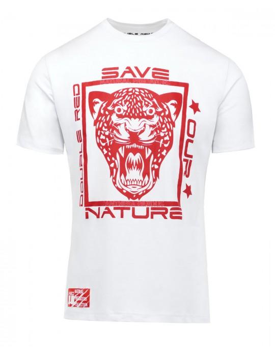 Natural Predator Leopard T-Shirt White