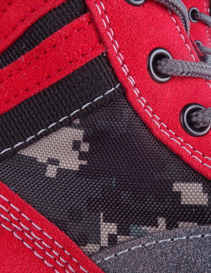 Boots Red&Grey Digital Crazy Army Color