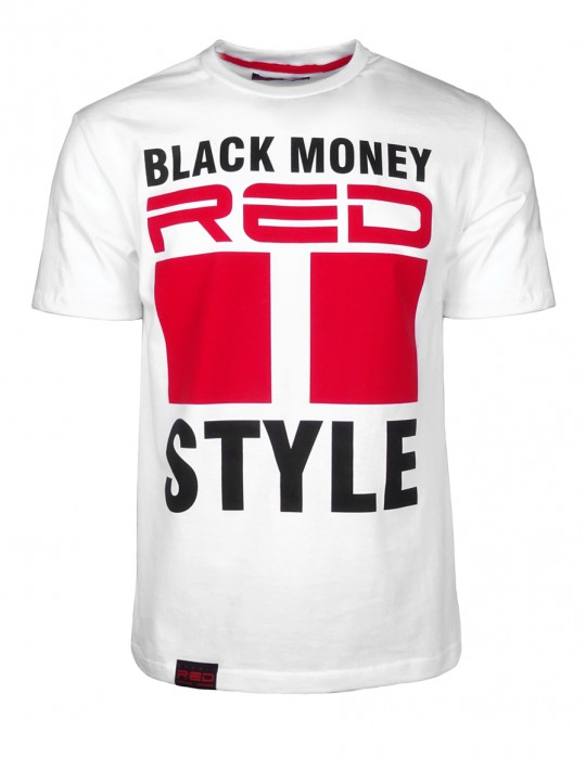 DR M Black Money Style T-shirt White