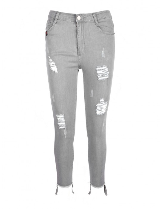 DR W Ripped Jeans Grey