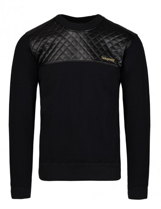 SELEPCENY Cotton Sweatshirt Black
