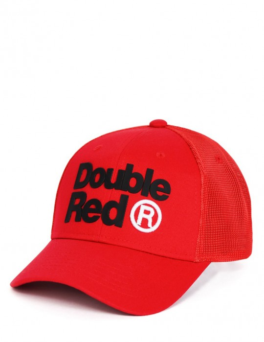 DOUBLE RED Trademark Trucker Cap Red