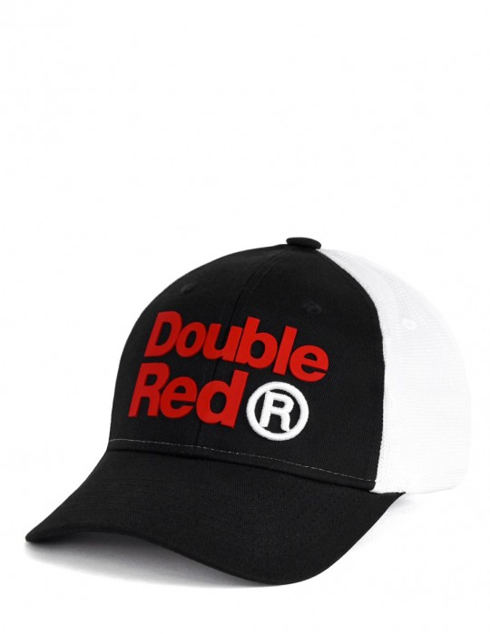 DOUBLE RED Trademark Trucker Cap B&W