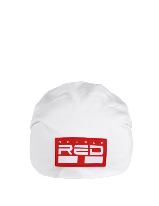 DOUBLE RED BEANIE White