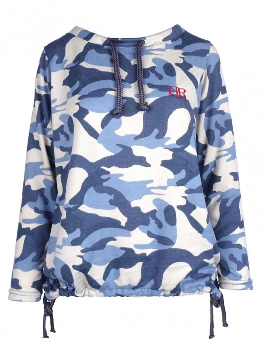 DR W Knit Jumper Blue CAMO