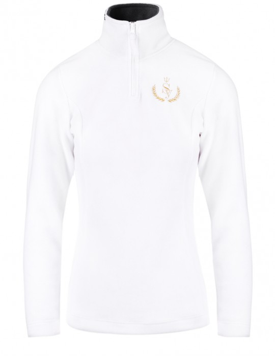 SEAMAN 100% FINE FLEECE JACKET Selepceny White