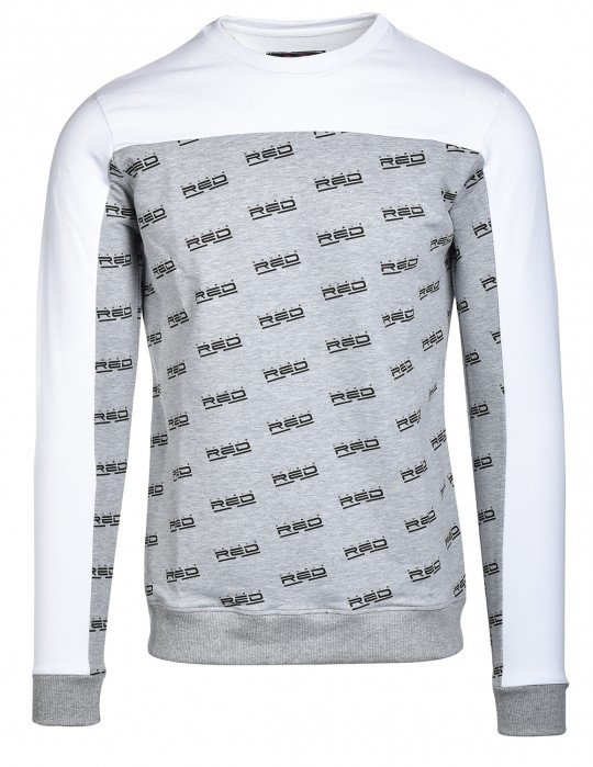 Sweatshirt UTTER FULL LOGO White/Grey
