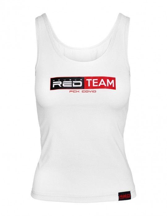 FCK Covid RED TEAM Tank Top  White