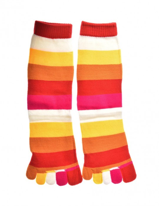 DOUBLE FUN Toe Socks Sunset