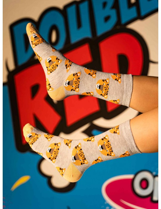DOUBLE FUN Socks Tiger