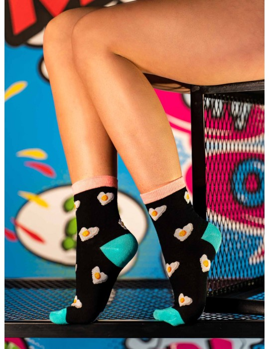 Women's FUN  Socks heart omelette